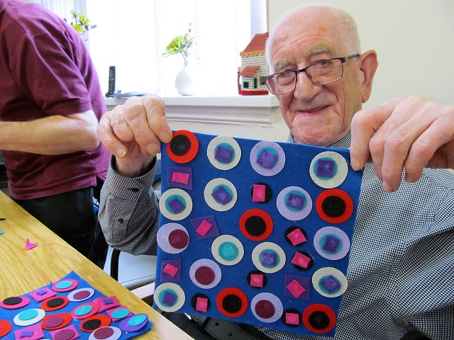 Image of: Portrait Easy Textiles Workshop Using Bright Felts That Are Easy To See And Soft To Handle Decoupage Wall Art Craft Session For Older People Learning And Development Art Craft Creative Sessions Health Social Art Craft Club For Older People At Age Uk Sandwell Dudley Walsall