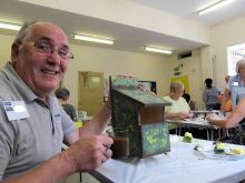 An easy DIY Class making Nestboxes and learning how to get a camouflage effect with special weatherproof paints