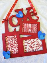 Valentines Mini Photo Frames.  Fun to keep or give as a gift.