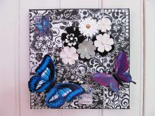 Decoupage Wall Art on Canvas.  People love using our special Design Papers, embellishments and other trimmings!  And they finish the Craft Session with something to be proud of!