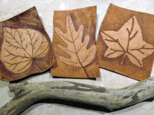 Pyrography or Pokerwork is always popular!  If you can use a Bingo Dabber, you can do this!  People can choose from our range of real wood items like boxes, house signs, candlesticks, coasters, and learn how to burn their design into the wood.