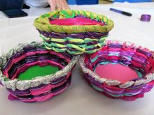 Bowl Weaving close up - great for improving dexterity and getting those fingers moving.