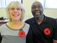 Remembrance Poppies - these are so easy to make.  And it's great to see people taking away their experience and making more to raise funds for the Poppy Appeal