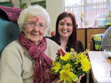 Fun Flower Arranging with Age UK Sandwell Birmingham