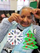 More Xmas Decorations with Age UK Sandwell Birmingham at the Beeches Day Centre.