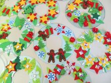 Fun Xmas Wreaths made in a Craft Activity Session with Age UK Sandwell Birmingham.
