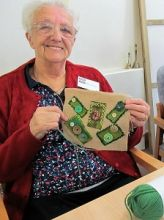 Compton Care Hospice Wolverhampton patients, volunteers and staff enjoyed learning how to make Applique designs using Craft fabrics.